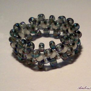 Szivárványos kék gyűrű
