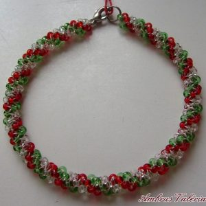 Piros - Fehér - Zöld karkötő