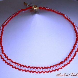Piros - Fehér nyaklánc