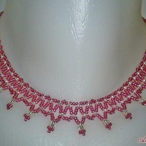 Rózsaszín – Ezüst nyaklánc