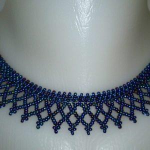 Irisz kék erdélyi nyaklánc