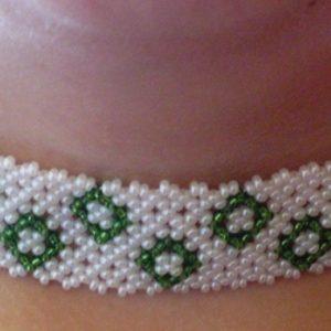 Fehér - Zöld nyakpánt
