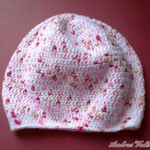 Rózsaszín melírozott babasapka