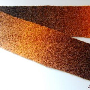 Barna - Narancs kötött sál