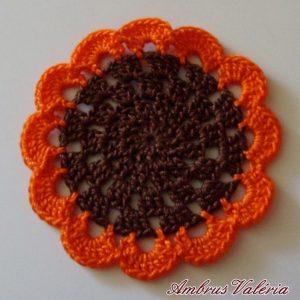 Barna - Narancs poháralátét
