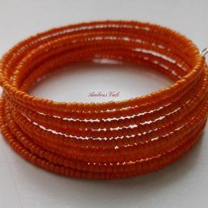 Narancssárga memória karkötő