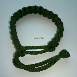 Zöld állítható makramé karkötő