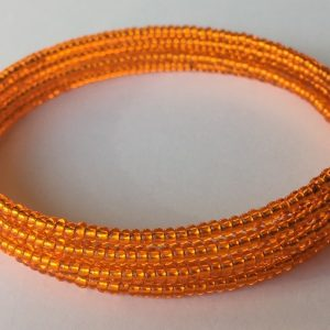 Narancssárga memória karkötő fényes