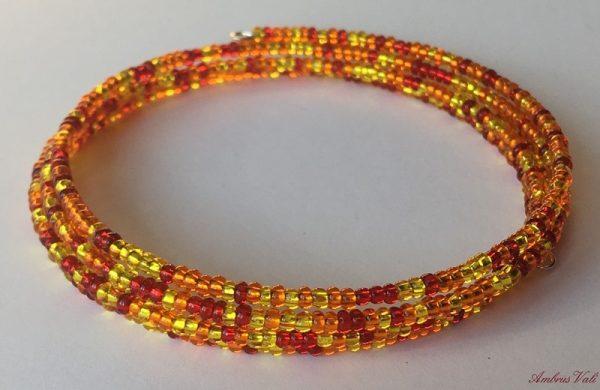 Piros – Narancs – Citrom színes memória karkötő fényes