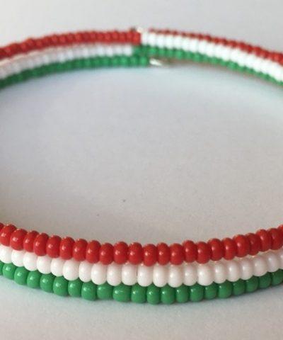 Piros – Fehér – Zöld memória karkötő