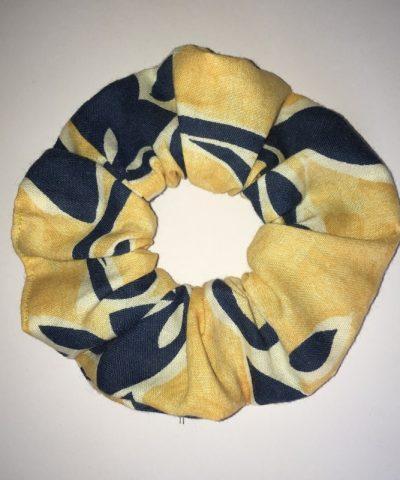 Sárga – kék mintás hajgumi nagy