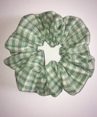 Zöld kockás hajgumi normál